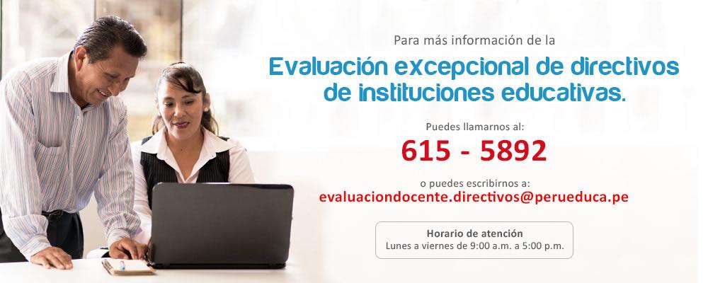 Evaluación excepcional de directivos de instituciones educativas